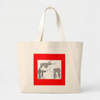 upsidedown shoot jumbo tote bag
