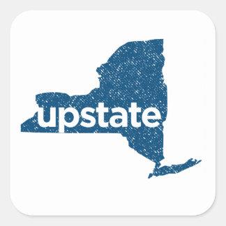 upstate. vintage blue badge sticker