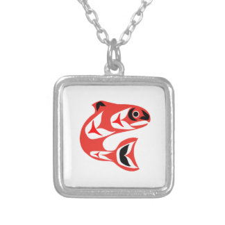 Upstream Swim Silver Plated Necklace