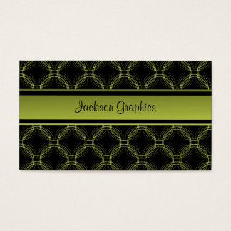 Uptown Elegance Business Card, Olive Green Business Card