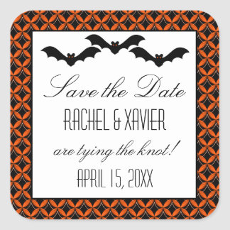 Uptown Glam Bats Halloween Save the Date Stickers