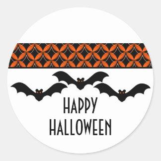 Uptown Glam Bats Halloween Stickers