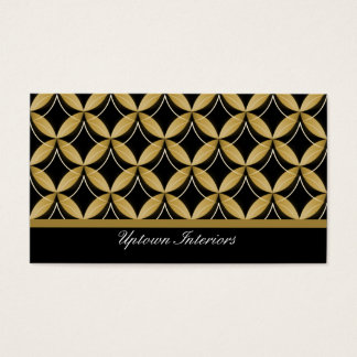 Uptown Glam Business Card, Gold Business Card
