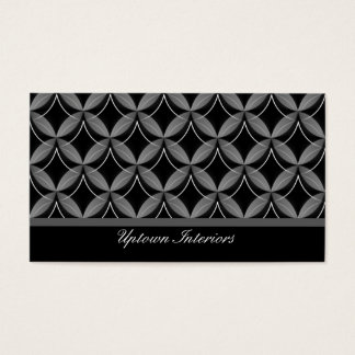 Uptown Glam Business Card, Metallic Gray Business Card