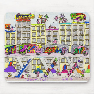 """Uptown Train"" Mouse Pad"
