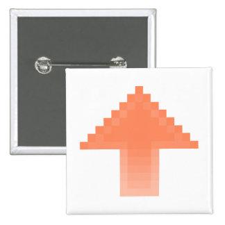 Upvote 15 Cm Square Badge