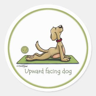 Upward Facing Dog - yoga pose Round Stickers