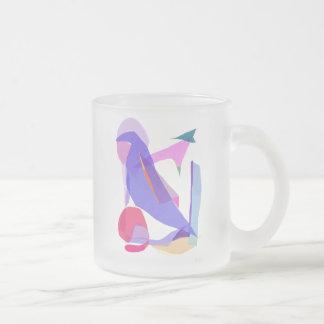 Upward Frosted Glass Mug