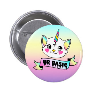 UR Basic - Cute Kitty Unicorn 6 Cm Round Badge