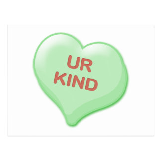 Ur Kind Candy Heart Postcard