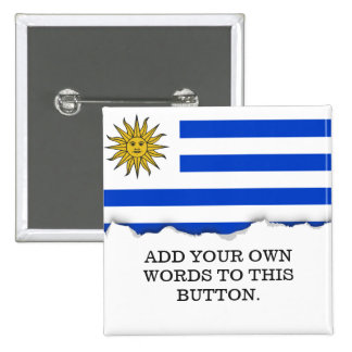 Uraguay flag 15 cm square badge