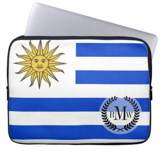 Uraguay flag computer sleeve
