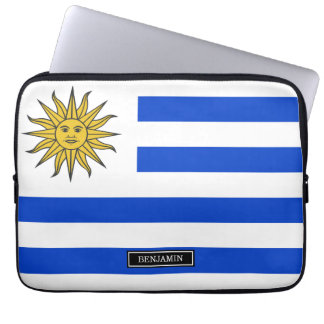 Uraguay flag laptop sleeve