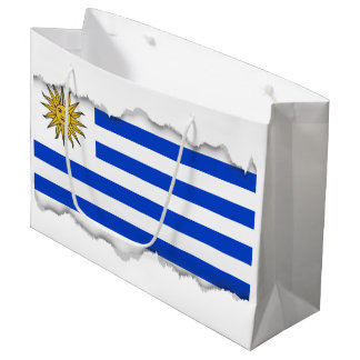 Uraguay flag large gift bag