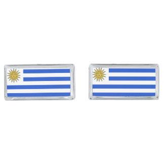 Uraguay flag silver finish cufflinks