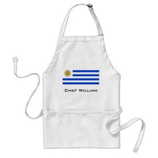 Uraguay flag standard apron
