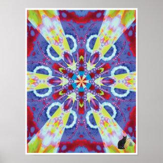 Uranian Kinetic Collage Kaleidoscope Poster