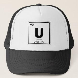 Uranium chemical element symbol chemistry formula trucker hat