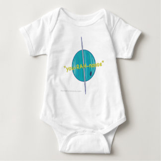 Uranus-Yellow with Website Baby Bodysuit