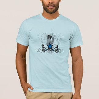 Urban and Hip Fencing Illustration T-Shirt