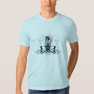 Urban and Hip Fencing Illustration Tshirts