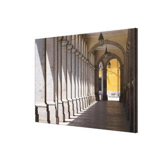 Urban Area Arched Corridor Canvas Print