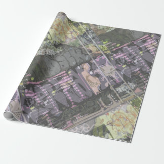 urban art graffiti gift wrapping wrapping paper