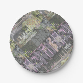 urban art graffiti party supply paper plate