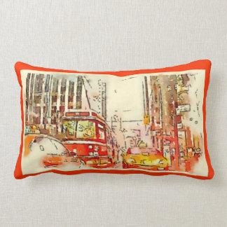 Urban Art, Throw Pillow, Toronto Lumbar Cushion