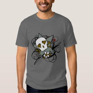 Urban Artistic Skull Star Tattoo Illustration Shirt