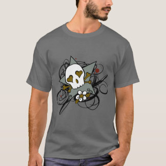 Urban Artistic Skull Star Tattoo Illustration T-Shirt