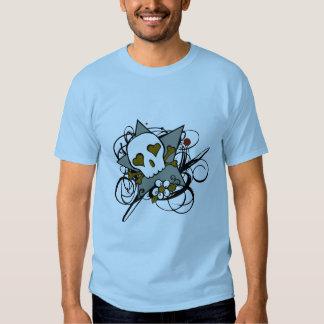 Urban Artistic Skull Star Tattoo Illustration Tshirt