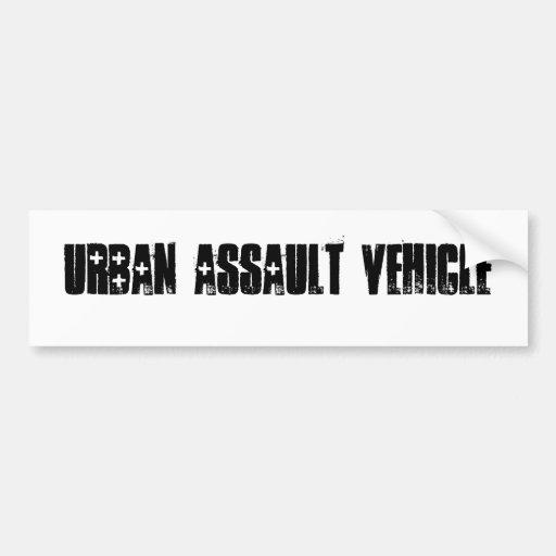 Urban assault vehicle bumper stickers