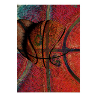 urban basketball ball poster