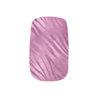 Urban Beauty Pink Rose Raspberry Strokes Zebra Minx Nail Art