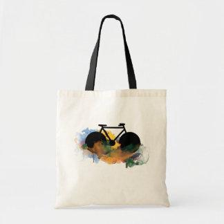 urban bike-art graphic illustration budget tote bag