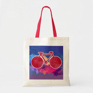 urban bike_art graphic illustration tote bag