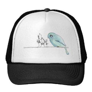urban blue bird on a wire cap