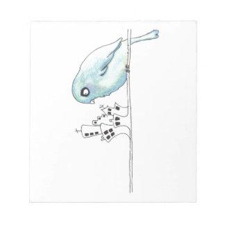 Urban blue bird on a wire notepads