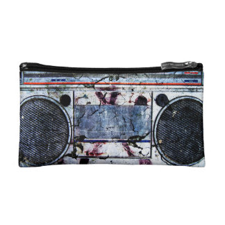 Urban boombox cosmetic bag