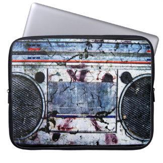 Urban boombox laptop sleeve