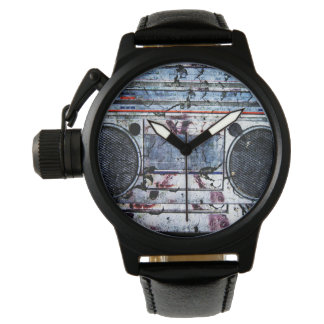 Urban boombox wrist watch