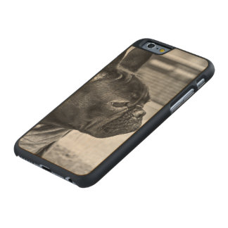 Urban bulldog carved maple iPhone 6 case