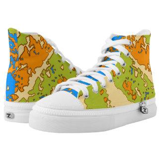 Urban Camo High Tops Printed Shoes