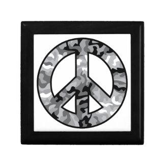 Urban Camo Peace Small Square Gift Box