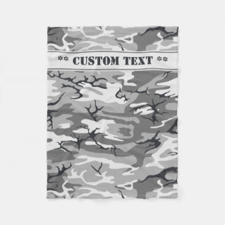 Urban Camo w/ Custom Text Fleece Blanket