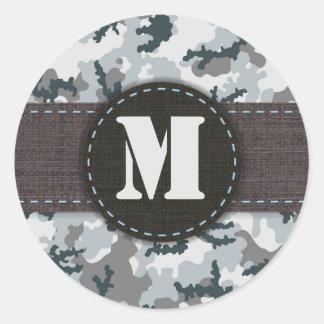Urban camouflage classic round sticker