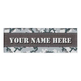 Urban camouflage name tag