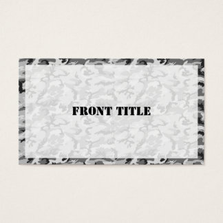 Urban Camouflage Pattern - Black & Grey Business Card