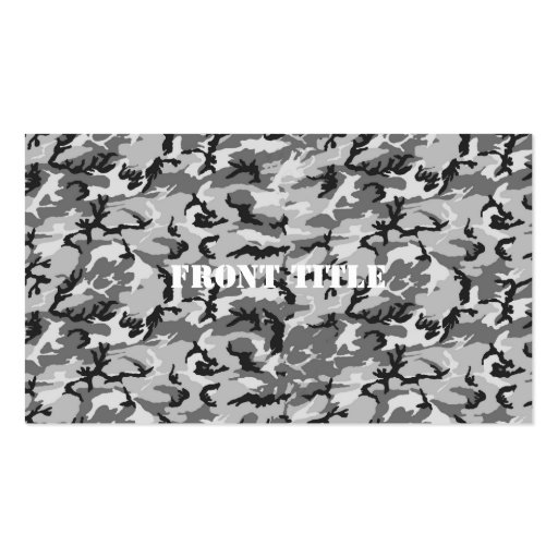 Urban Camouflage Pattern - Black & Grey Pack Of Standard Business Cards